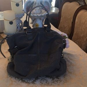 BDG gray felt bag from Urban Outfitters